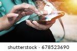network global world map... | Shutterstock . vector #678523690