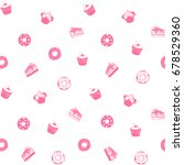 seamless vector pattern of... | Shutterstock .eps vector #678529360