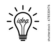 lightbulb   light bulb idea ... | Shutterstock .eps vector #678530476