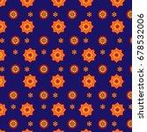 blue sindhi ajrak pattern ... | Shutterstock .eps vector #678532006