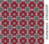 red sindhi ajrak pattern ... | Shutterstock .eps vector #678532039