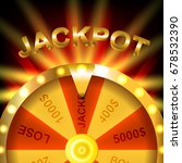 wheel of fortune. jackpot. win. ... | Shutterstock .eps vector #678532390