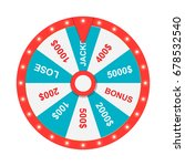 wheel of fortune. jackpot. win. ... | Shutterstock .eps vector #678532540