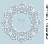 round frame with lace border... | Shutterstock .eps vector #678533680