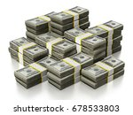 100 dollar lots stack isolated... | Shutterstock . vector #678533803