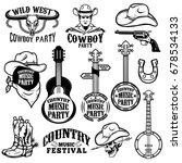 set of country music festival... | Shutterstock .eps vector #678534133