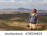 a young man with a camera in...   Shutterstock . vector #678534829