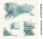 set of painted grunge elements. ... | Shutterstock .eps vector #678535858