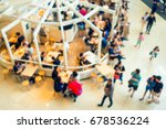 abstract blurred in shopping... | Shutterstock . vector #678536224