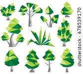 polygon tree clip art | Shutterstock .eps vector #678539170