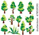 polygon tree clip art | Shutterstock .eps vector #678539590