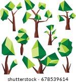 polygon tree clip art | Shutterstock .eps vector #678539614