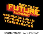 vector of modern colorful font... | Shutterstock .eps vector #678540769