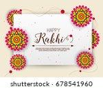 vector abstract for raksha... | Shutterstock .eps vector #678541960