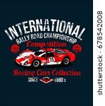 wear print red car on circuit... | Shutterstock .eps vector #678542008