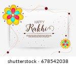 vector abstract for raksha... | Shutterstock .eps vector #678542038