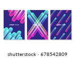 set of vibrant colorful line... | Shutterstock .eps vector #678542809