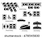 illegal car parking and other... | Shutterstock .eps vector #678545830