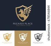 pegasus logo template vector  | Shutterstock .eps vector #678546844
