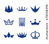 crown icons | Shutterstock .eps vector #678548398