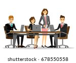 team of successful business... | Shutterstock .eps vector #678550558