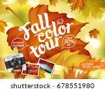 fall color tour ads  autumn... | Shutterstock .eps vector #678551980