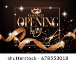 grand opening party invitation... | Shutterstock .eps vector #678553018