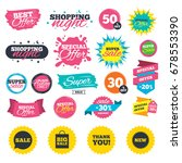 sale shopping banners. sale... | Shutterstock .eps vector #678553390