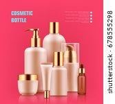 cosmetic bottle realistic.... | Shutterstock .eps vector #678555298