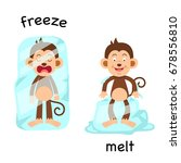 opposite freeze and melt vector ...   Shutterstock .eps vector #678556810