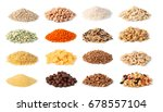 Cereals Set Isolated On White...