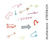 doodle arrow set vector | Shutterstock .eps vector #678558124