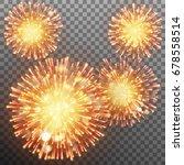 festive firework effect... | Shutterstock .eps vector #678558514