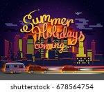 summer holidays coming vector... | Shutterstock .eps vector #678564754