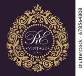 the original monogram. golden... | Shutterstock .eps vector #678564808