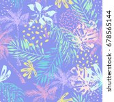 nature seamless pattern. hand... | Shutterstock .eps vector #678565144