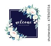 welcome word hand drawn with... | Shutterstock .eps vector #678565516