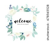 welcome word hand drawn with... | Shutterstock .eps vector #678565528