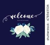 welcome word hand drawn with... | Shutterstock .eps vector #678565534