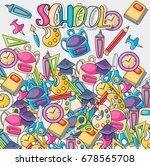 school elements clip art doodle ... | Shutterstock .eps vector #678565708