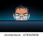 software developer at work... | Shutterstock .eps vector #678565858