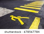 pedestrian crossing yellow... | Shutterstock . vector #678567784