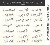 vector flourishes  swirls ... | Shutterstock .eps vector #678567850