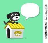 cartoon character black norfolk ... | Shutterstock .eps vector #678568318