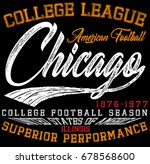 athletic sport typography  t... | Shutterstock .eps vector #678568600