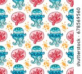 vector nautical pattern.... | Shutterstock .eps vector #678569560