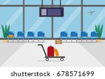 background of hall at airport.... | Shutterstock .eps vector #678571699