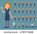 set of various poses of flat... | Shutterstock .eps vector #678571888