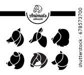 animals logo set. vector... | Shutterstock .eps vector #678573700