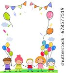 group of children | Shutterstock .eps vector #678577519
